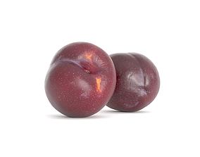 Plum Fruit Photoscan 3D asset low-poly