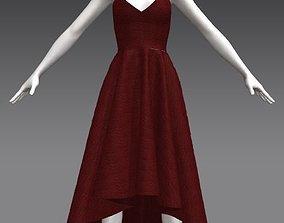 3D model Strapless irregular woman dress
