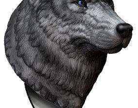 creature sculpt Wolf head 3d print model