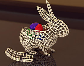 decoration Vase Easter Rabbit Voronoi 3D print model