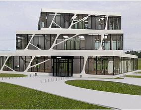 3D asset Cubic Building