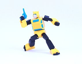 G1 Transformers Bumblebee - No Supports 3D print model