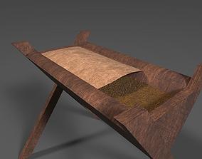 3D asset Wooden Crib