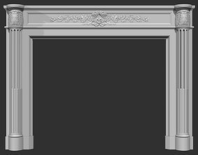 3D model Louis XVI style classical fireplace mantel