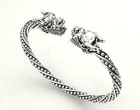 Double Head Dragon Bracelet 3D print model