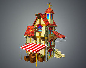 Low Poly Tavern House 3D asset