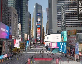 3D New York Times Square at Day and Night