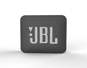 JBL GO2 BLACK SPEAKER -customizable speaker 3d model