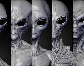 3D Realistic Aliens Sculpts Bundle 2