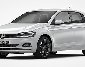 Volkswagen Polo 2018 Detailed Interior 3D