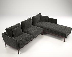 3D model Manchester corner sofa