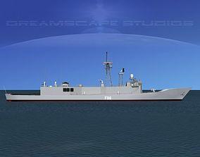 3D Spanish Frigate Canarias F86