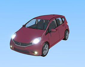 2016 Nissan Versa NOTE SR Toon Shaded 3D animated