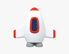 Space Rocket 4 3D model