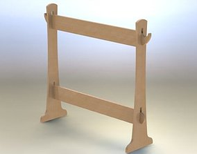3D Wooden playstand