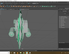 Destroyer Spaceship 3D print model