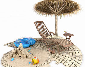 3D model Summer Beach Set