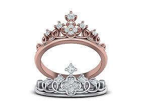 Princess Crown Ring Tiara ring 3dmodel N10343
