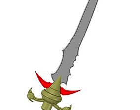Sword 3D printable model barbarian
