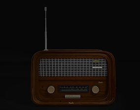 Game Ready Vintage Radio 3D