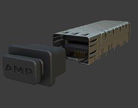 AMP Ethernet SFP Transceiver 3D model
