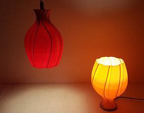 3D print model Unfolding Flower Lamp4