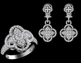 ring earrings 3D print model