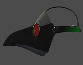3D asset low-poly Plague Mask