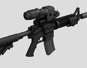 3D asset Assault Rifle CQB SBR MK 18 Tactical Rig