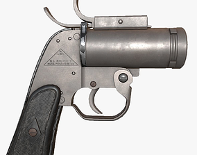 3D asset AN-M8 Flare Gun Model - Textures