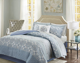 3D Wedgewood Complete Comforter and Cotton Sheet Set