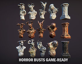 Horror busts 3D asset