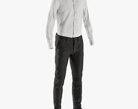 3D asset Mens Pants with Shirt Shoes 6