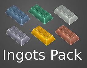 3D asset Hand-painted ingots pack