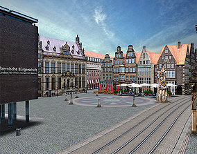 Bremen old city centre in germany 3D model