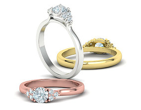 Paradise Classic Engagement ring 5mm stone 3dmodel
