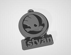 3D print model Skoda keychain Istvan