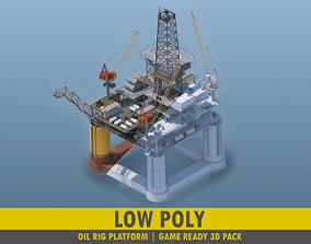 Oil Rig Platform - Pack 3D asset