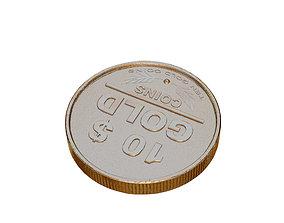Coins Gold 3D model