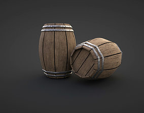 realtime A low-poly Game ready Barrel 3D Model