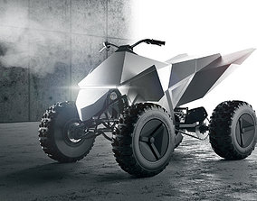 3D Tesla cyberquad ATV