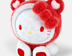 Hello Kitty soft toy 3D model