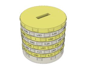 3D printable model Sorting piggy bank USD - L size