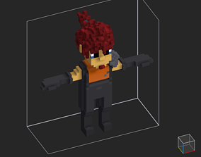 100 Characters in voxel 3D asset