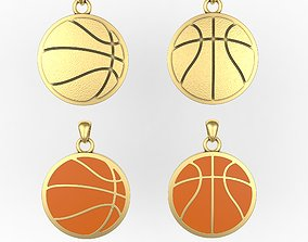Basketball pendant or pin or broche 3D printable model
