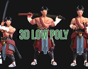 3D model Samurai PBR RIGGED