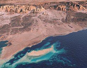 NEOM LINE city terrain model in Saudi Arabia desert 3D
