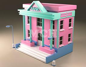isometric Bank 3D model