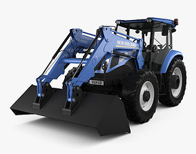 3D model New Holland TD5 Loader Tractor 2017