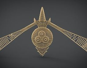 3D printable model Aegislash Wireframe